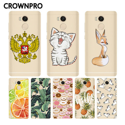 CROWNPRO Redmi 4 Pro Case Silicone Painting Case Back Protector FOR Xiaomi Redmi 4 Pro