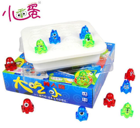 Candice guo Plastic toy Big Eat Small colorful Monster fold chess Logic play Game children