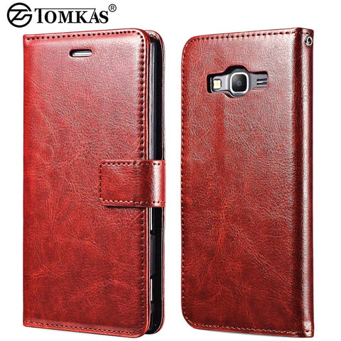 Case For Samsung Grand Prime Flip Wallet PU Leather With Stand Coque Cover Case For