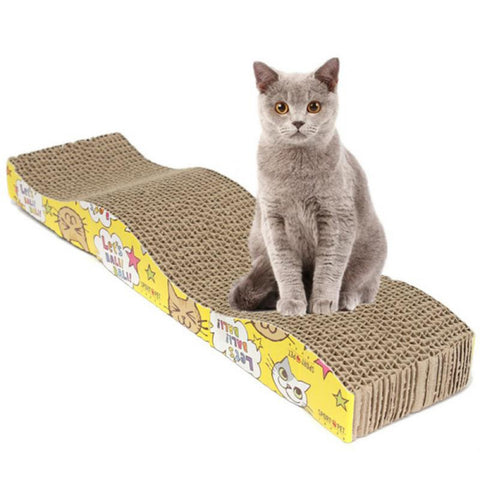 Cat Kitten Paper Cardboard Corrugated Scratch Board Pad Scratcher Bed Mat Claws Care cat