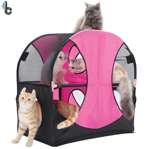 Cat Playground Pet Cube Cats Tent Castle Play Toy Accessories Supply Small Pets Kitten