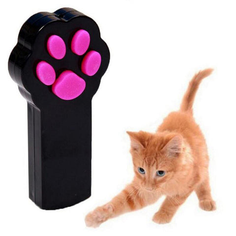 Cat Toy Catch Interactive LED Light Beam Pointer Pet Toy Exercise Scratch Training Tool .