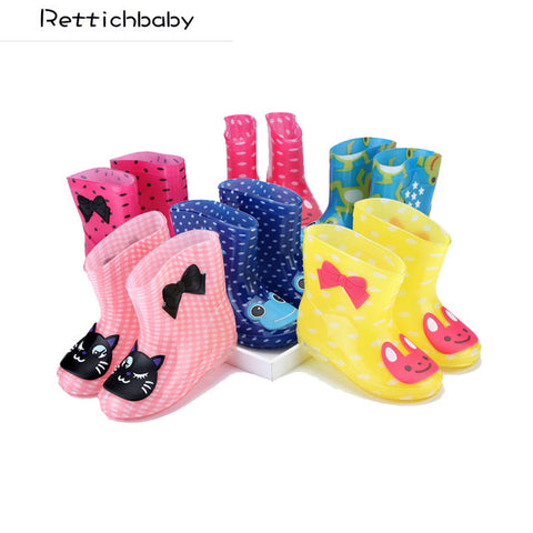 Boots for Girls Children Spring Autumn Winter Boys Girls Baby Kids Rhino Candy Color with Frog Cat