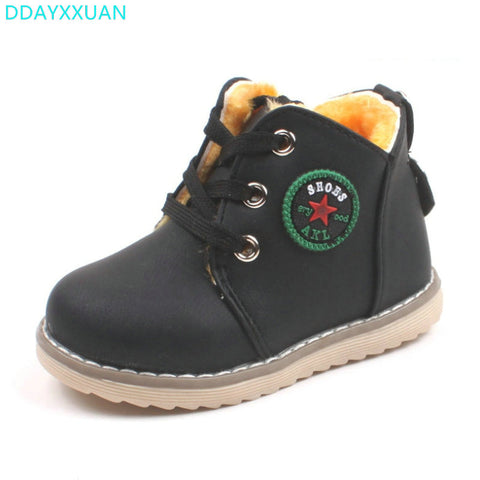 Boots for Boys Children snow boots New Toddler Winter fashion shoes baby boys girls warm boots thick