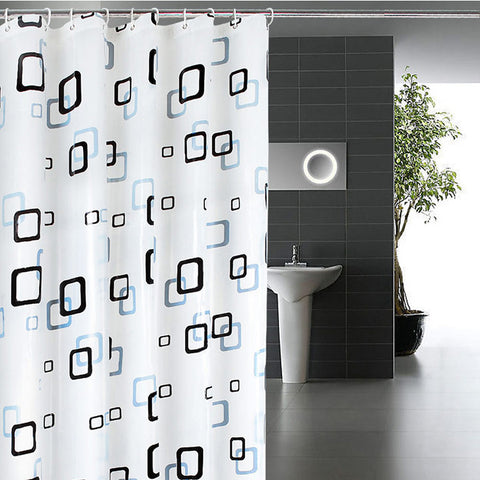 Classic Modern Plaid Pattern 1.8*2m Thick Waterproof PEVA Shower Curtain Bathroom