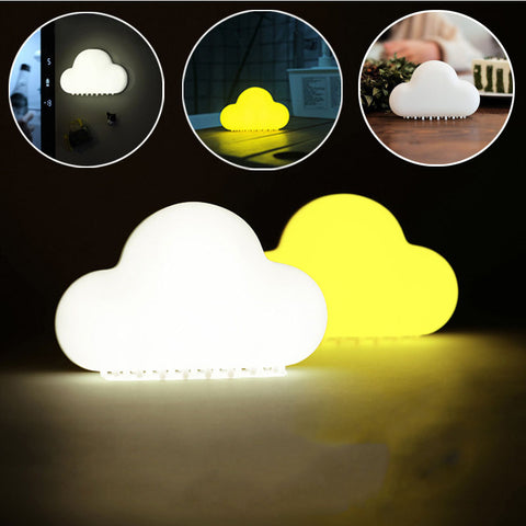 Cloud Night Light Wireless Wall Lamps LED USB Voice Sensor Lamp Novelty Children Room
