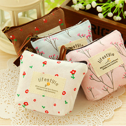 Coin Purse Cute Canvas Children Bags For Girls Cartoon Kids Wallet Phone Headset Fashion