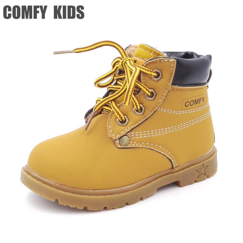 Boots for Boys Comfy kids child snow boots shoes for girls boys boots fashion soft bottom baby girls boot