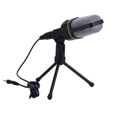 Condenser Wired Microphone Capacitive microphone with Tripod for Network recording