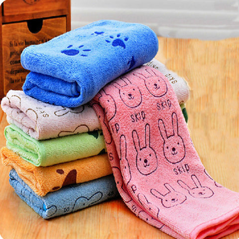 Cotton Blend Warm Soft Pet Dog Cat Cartoon Animal Bathrobes Cute Bath Towel Size SML Pet