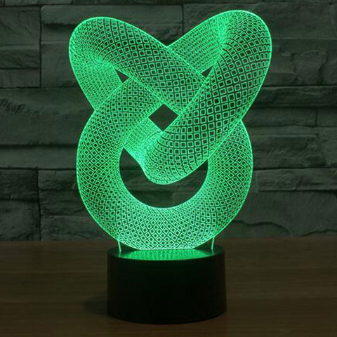Creative 3D illusion Lamp LED Night Light 3D Abstract Graphics Acrylic lamparas Atmosphere