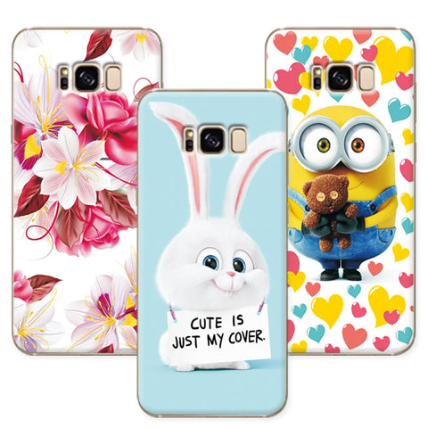 Cute Cartoon Soft TPU Case Coque for Samsung S8 Colorful Mermaid Cover Funda For Samsung