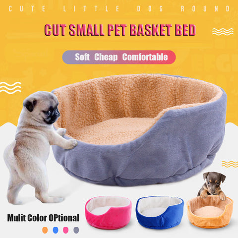 Cute Home Pet Cat Bed Small Dog Beds Teacup Bichon Puppy Kitten Bed Basket Dog House