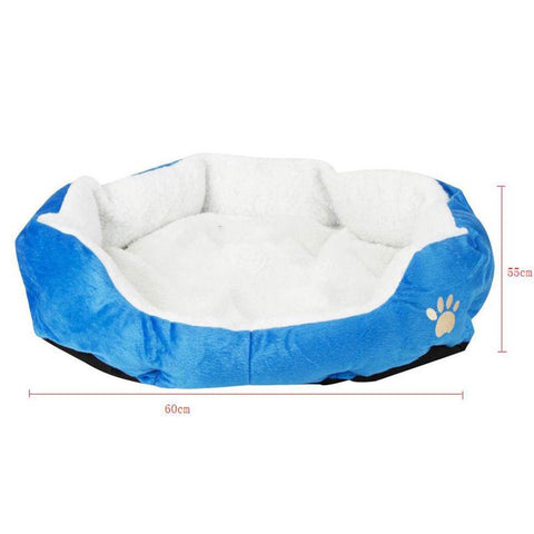 Cute Paw Print Cats Beds Comfortable Pets Kitten Beddings House Nest Pad Soft Fleece Bed .