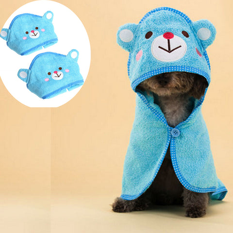 Cute Pet Dog Fashion Cartoon Animal Bath Towel Blanket Bathing Suit .