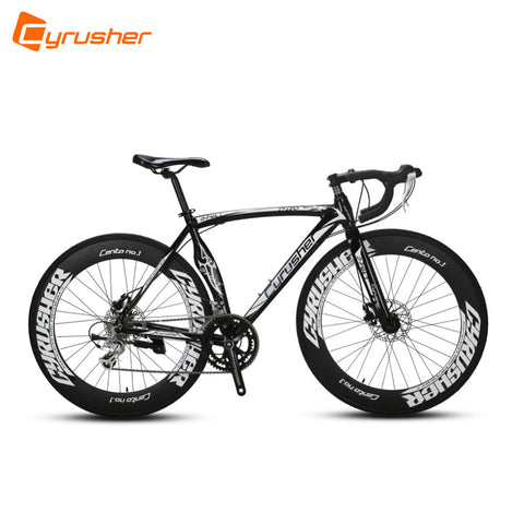 Cyrusher XC700 Black Man's Road Bicycle 14 Speed Resistance Rubber 54CM Or 56CM Frame .