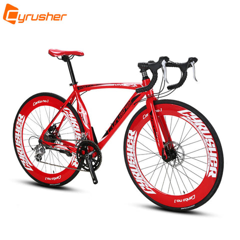 Cyrusher XC700 Sports Racing Road Bicycle 16 Speeds 700C 54/56CM Light Aluminum Frame