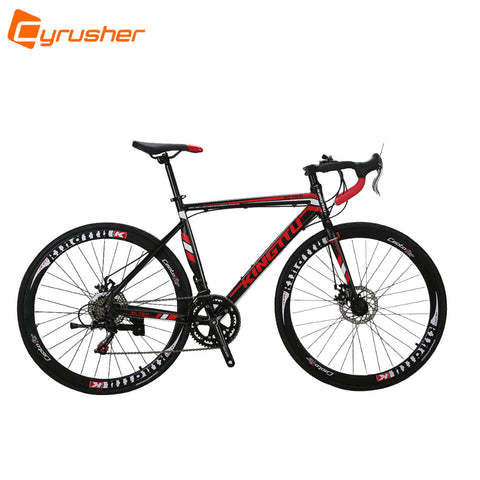 Cyrusher XC760 Black-red 14 speed 700C*52cm Aluminum Alloy Frame Man's Road Bike Double