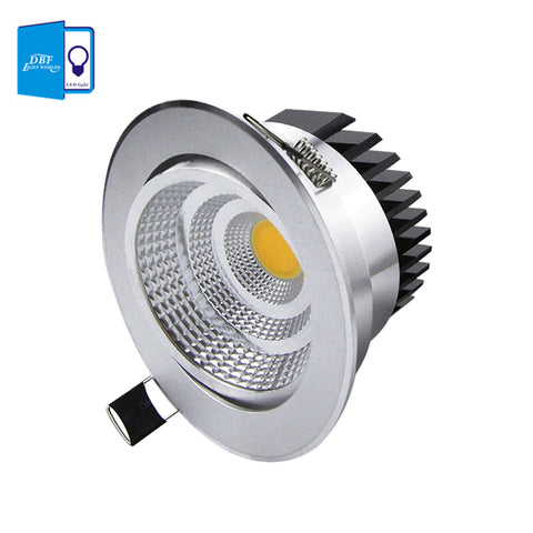 [DBF] Silver Ultra gorgeous Dimmable LED COB Downlight AC110V 220V 6W/9W/12W/15W
