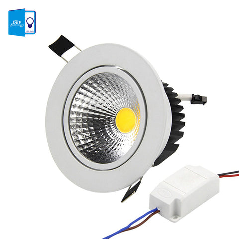 [DBF] Super Bright Recessed LED Dimmable Downlight COB 5W 7W 9W 12W LED Spot light LED