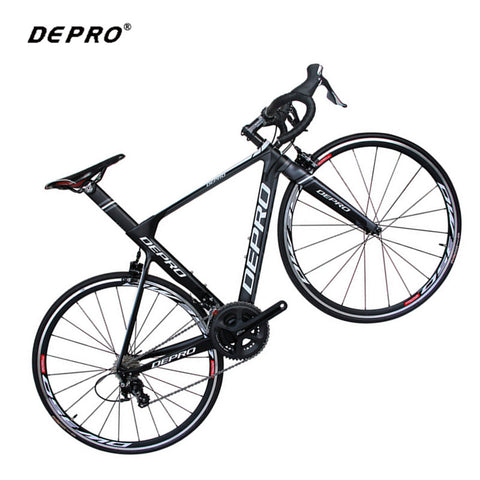 DEPRO Carbon Road Bike 700C 22 Speed Bicycle Aluminum Ultralight Carbon Fiber Fork Cycling