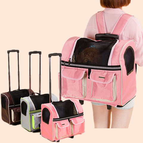 Dog Carrier Dog Cat Trolley Carrier Breathable Pet Totoro Chinchilla Backpack Pet Dog
