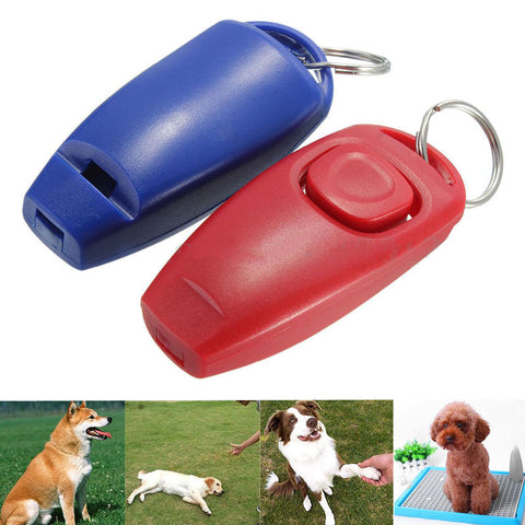 Dog Clicker & Whistle- Training, Obedience, Pet Trainer Click Puppy With Guide #265 .