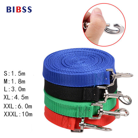 Dog Pet Lead Leash for Dogs Cats Red Green Blue Nylon Walk Dog Leash Selectable Size