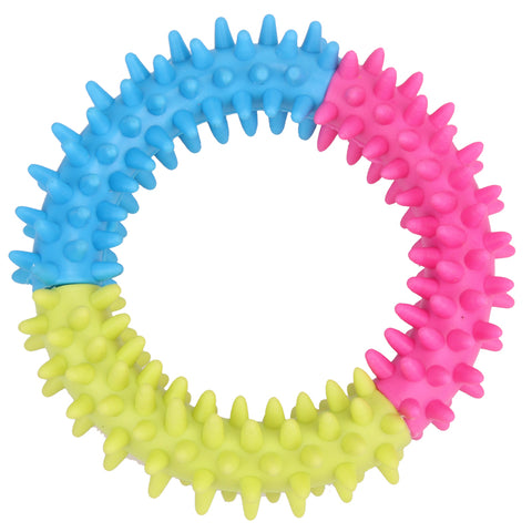 Dog Toys Pet Traning Products Pets Dog 3 Color Embossment Spinose Ring TPR Rubber Toys