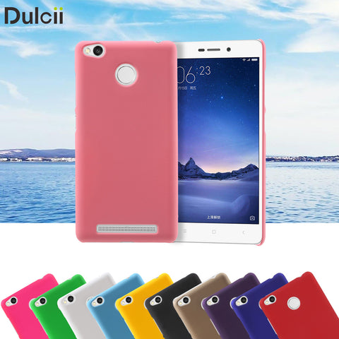 Dulcii coque capa fundas For Xiaomi Redmi 3s Hard Cases Rubber Coating PC Back Cover for