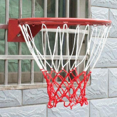 Durable Red White Basketball Nets 13 Loops Polypropylene Basketball Net Basketball Rim