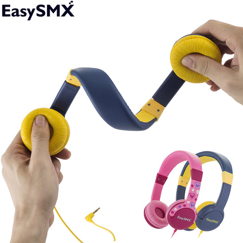EasySMX KM-666 Portable Kids Headphones Safely Children Over-Ear Headset with Adjustable