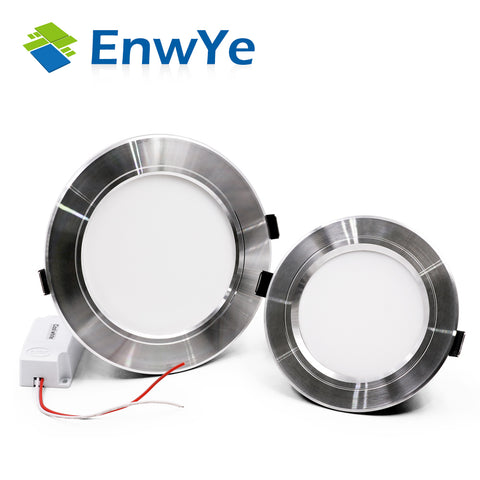 EnwYe Silver high power led downlights Ceiling lamp 5730SMD 10W 15W 20W 1110V 220V led