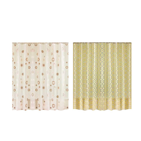 Europe Yellow Shower Curtain PEVA Mold Proof Waterproof Eco-friendly Endless Curtains