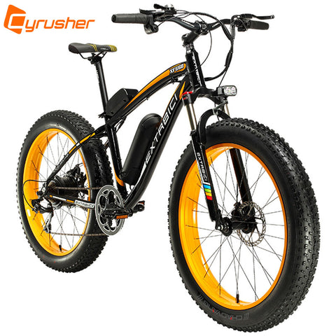 Extrbici Man XF660 48V 500Watt Li-battery Electric Bike Mountain Snow Beach 7 Speeds 26""
