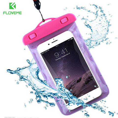 FLOVEME Universal Waterproof Phone Bag Case For iPhone 6 6S 7 Plus 5 5S SE Summer Fruit
