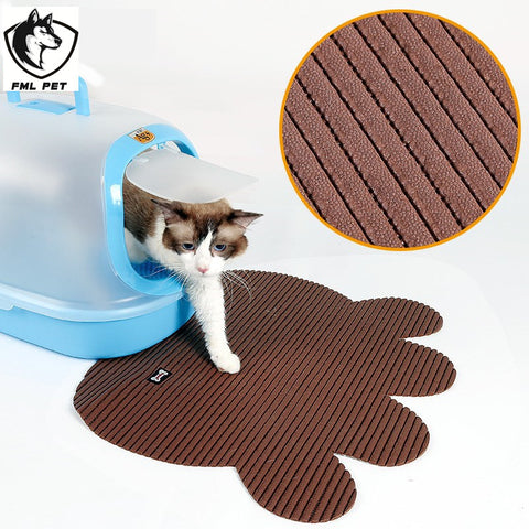 FML Pet Non Slip Large Cat Litter Box Mat For Cat Floor Mat For Pets Cats Toilet Anti