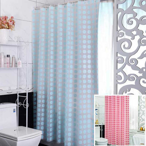 Fashion Blue PEVA Shower Curtain Waterproof Mold Proof Eco-friendly Endless Bath Curtain