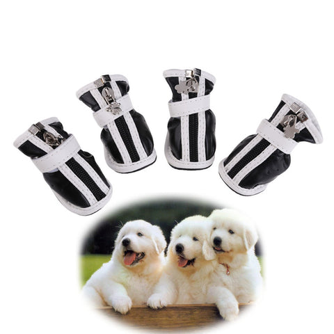 Fashion Pet Shoes Large Small Pet Dog PU Comfortable Boots Waterproof Non-Slip Puppy Dog