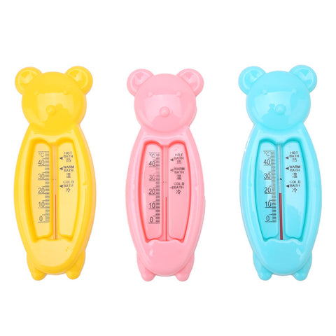 Floating Lovely Bear Baby Water Thermometer Float Baby Bath Toy Thermometer Tub Water