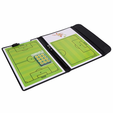 Folding Football Tactic Board Coaching Board Magnetic Soccer Coach Book Set with Pen Dry