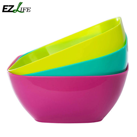 Food-grade plastic square salad bowl fruit plate, fruit plate seeds small snack candy dish