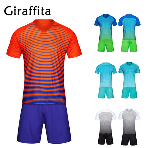Football Sets Training Suit Clothes Set for Men Soccer Jersey and Short Sleeve Uniforms