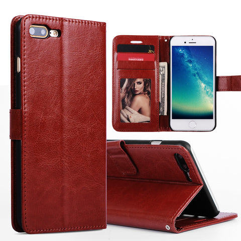 For iPhone 7 Case Stand Magetic Card Slot Flip Leather Wallet Case For Cover iPhone 7 Plus