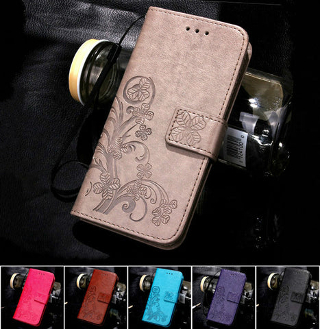 For iPhone 7 Plus 4S 5S 4 5 6 S Leather Flip Case For Samsung Galaxy A3 A5 J3 J5 J1 S7
