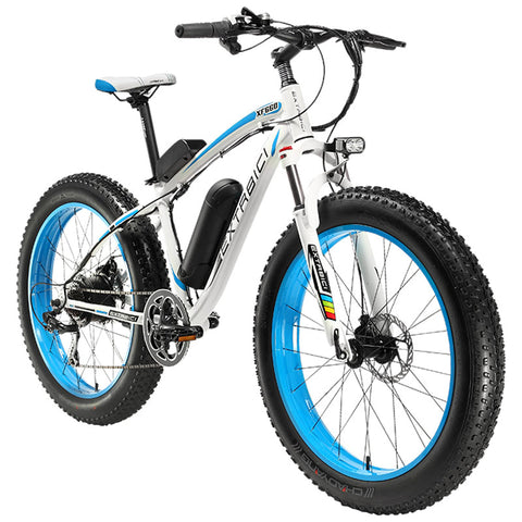 "Customs Extrbici XF660 4.0 Fat Tire Cruiser Electric Bike 26"" Snow Beach Road eBike 7 Sp"