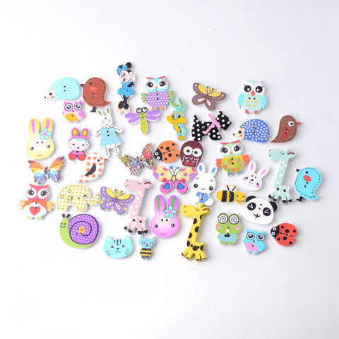 Free 115PCs Random Mixed Decorative Buttons Lovely Conveyance 2 Holes Mixed Sewing