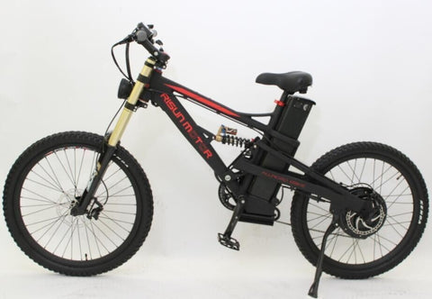 Free Style Black Or White 48V 1500W Mustang Mountain Ebike 18Ah Li-ion Battery Electric