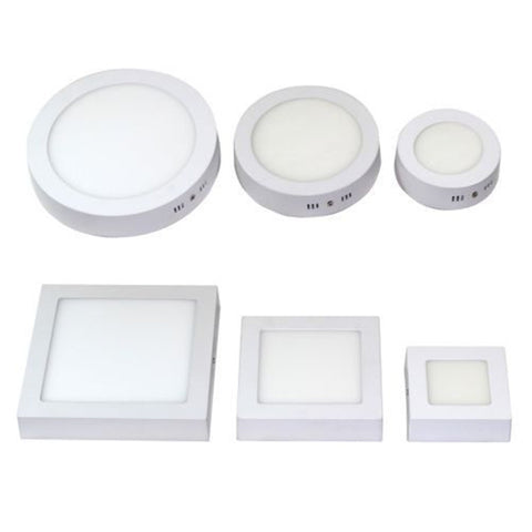 Free shipping 9W/15W/25W Round/Square Led Panel Light Surface Mounted Downlight lighting