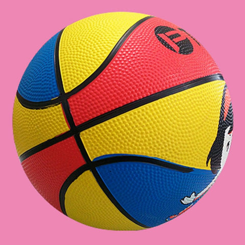 Funny Kid Jumping Basketball Cute Cartoon Portable Rubber Elastic Bouncing Ball Outdoor
